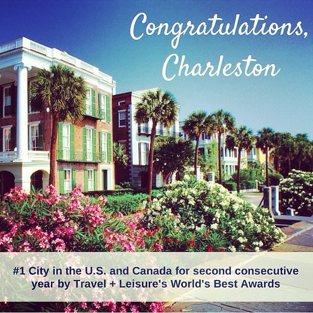 Kudos Charleston!! #number1again #charleston #bestintheworld @travelandleisure  #worldsbestaward
