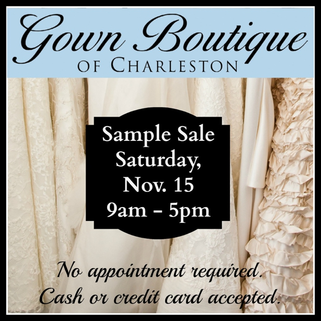 Post image for Gown Boutique of Charleston {Sample Sale}